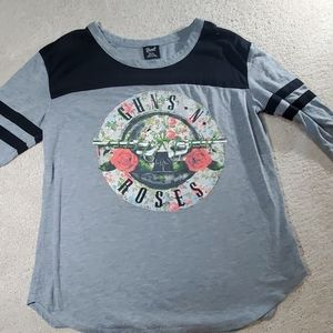 Guns N Roses 3/4 inch sleeves shirt